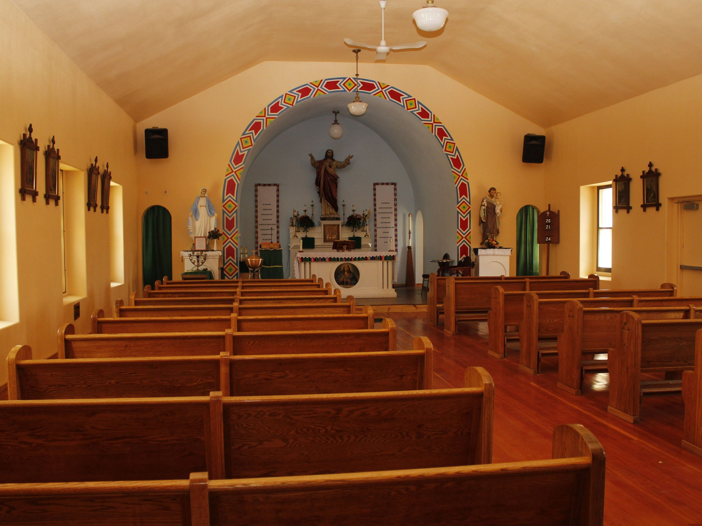 St. Paul's Mission Church in Hays, Montana, July 17,
